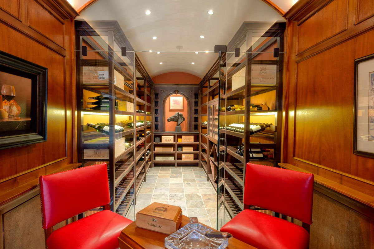 Beautiful Wine Cellar In Ny Mk Designs Kitchen Cabinetry
