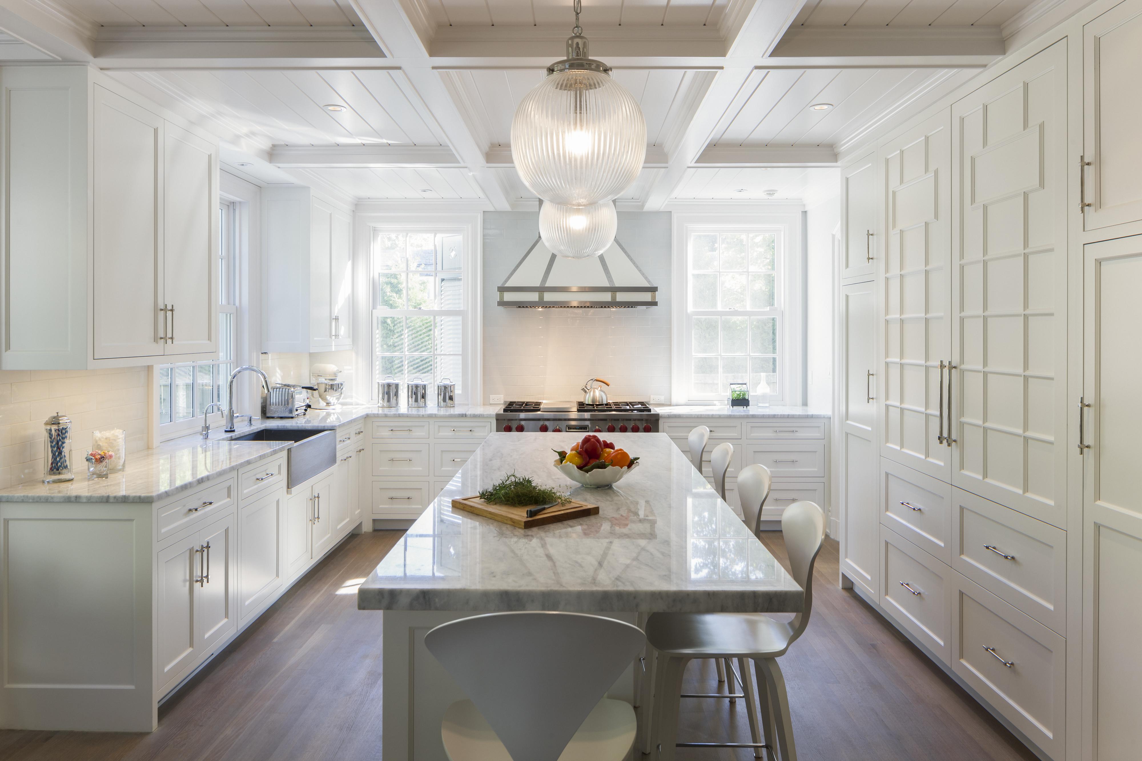 Custom Kitchen & Coffered Ceiling in Hoboken NJ